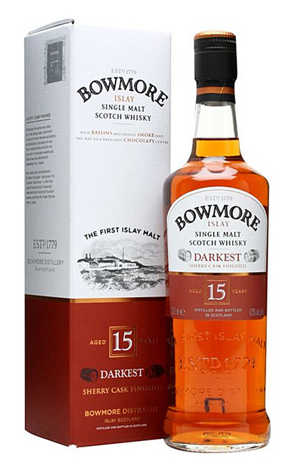 BOWMORE DARKEST 15Y 070 43%