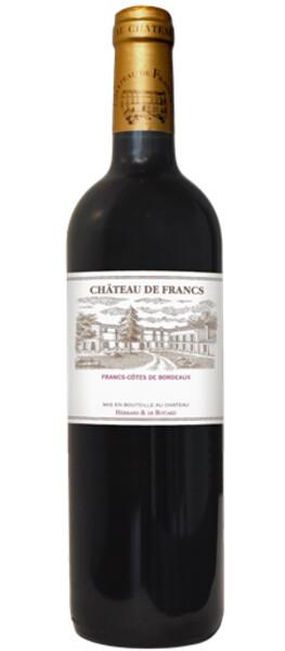 Chateau de Francs AOC 2016 Cotes de Bordeaux 0,75