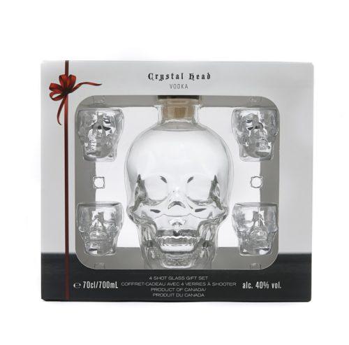 CRYSTAL HEAD VODKA 0,7l 40% + sklo