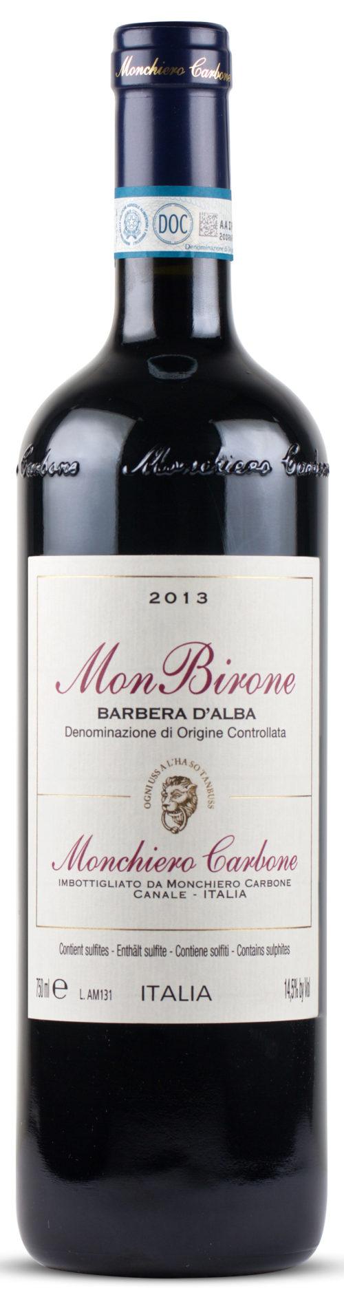 BARBERA D'ALBA DOC 2015 MONBIRONE MONCHIERO CARBONE 0,75