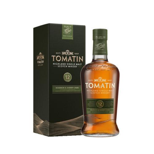 Skotská single malt whisky Tomatin 12yo box