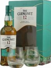 GLENLIVET 12Y + 2x sklo 070 40%